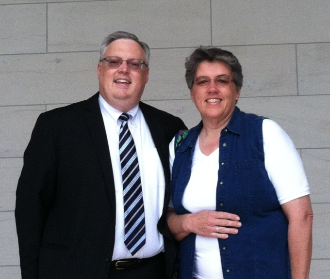 On the steps of the Nauvoo Temple after Sam gave me my 30th anniversary ring